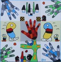 Magische Fingerabdrücke einer schwarz-weißen Welt_1
